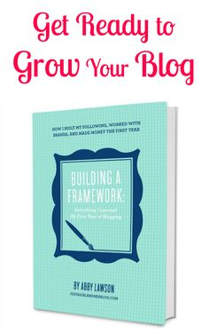 Are you struggling to grow your blog and turn it into a business.  Learn from blogger Abby Lawson on growing your platform, marketing your site, and monetizing your blog one year in.  Chock full of details and tutorials, Building a Framework is the best book on blogging for moms.