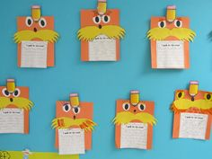 First Grade Crusade: The Lorax craftivity