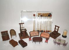 WANT TO BUY- Matchsticks or broken Chests (if all pieces still there)-  Frank Matter Micro-mini Furniture : Lot 159