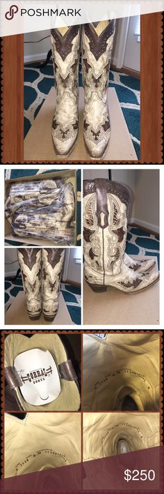 Corral western boots! Great condition Corral western boots vintage collection. Worn 2 times. Very comfortable. Does come with a box but the box is not the original box. Shoes Heeled Boots