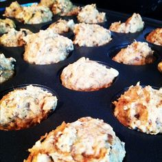 Juice Pulp Everything Muffins - I have these in the oven now, interested to see how they taste!