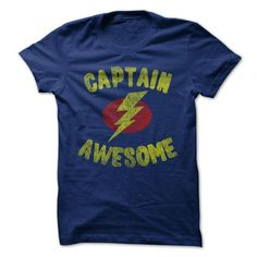 Captain Awesome Tee Shirt T-Shirts, Hoodies (19$ ==► Shopping Now to order this Shirt!)