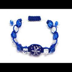 Jewelry - Hand painted Snowflake adjustable bracelet.