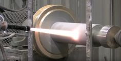 Video: H.V.O.F. (High Velocity Oxygen Fuel) Thermal Spray Coating being robotically applied via Jet Coat and JP 5000