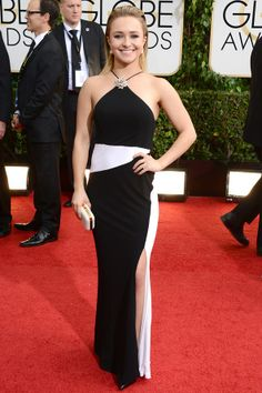 Hyaden Panettiere wearing Tom Ford to the 71st Annual Golden Globe Awards