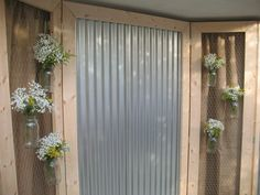 Ruffled®   See ads - Corrugated Tin and Chicken Wire Panels - Backdrops