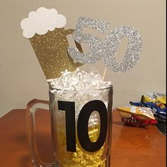 Cheers and Beers Center Piece Decor Birthday Party Decor Beer Birthday Party, Watermelon Birthday Parties, 30th Birthday, Princess Birthday, Birthday Cheers, Beer Centerpieces, Birthday Party Centerpieces, Birthday Decorations, Beer Party Decorations