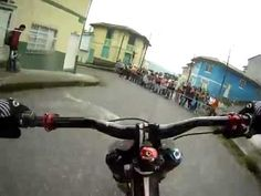 Insane Downhill Bike Street Race..  ~This is BADASS!  You're basically holding your breath the whole time.