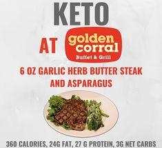 Keto at Golden Corral. Keto tips and tricks. Avocado Recipes, Low Carb Recipes, Vegetarian Recipes, Healthy Recipes, Herb Butter For Steak, Garlic Herb Butter, Keto Diet Plan, Low Carb Diet, Ketogenic Diet