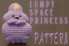 Lumpy Space Princess (Adventure Time) Amigurumi Crochet Pattern