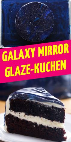 This galactic Galaxy Mirror Glaze cake is alien good , Mirror Glaze Kuchen, Mirror Glaze Cake, Star Wars Wedding, Star Wars Party, Fondant, Food And Drink, Vegetarian, Lunch, Desserts