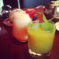 Fresh fruit and vegetable juices and smoothies at Cafe Causette