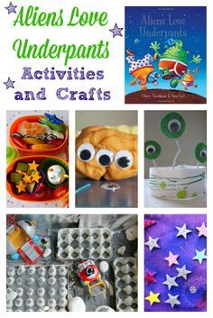 These Aliens Love Underpants activities and crafts should help keep any small person occupied and happy! Eyfs Activities, Space Activities, Toddler Activities, Monster Activities, Space Preschool, Toddler Fun, Reading Activities, Preschool Ideas, Teaching Ideas