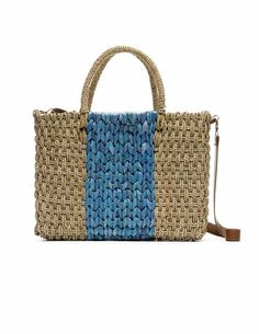 Bicolor Raffia Bag by Blanco