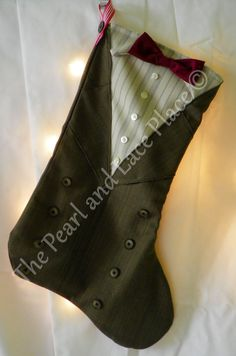 Doctor Who Eleventh Doctor Christmas Stocking on Etsy, $30.00