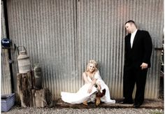 Bride & Groom chilling during a #wedding at #Taber Ranch
