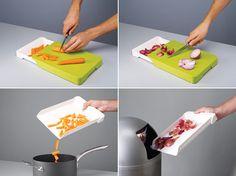 Collect n Chop Cutting Board - Genius, I need it!