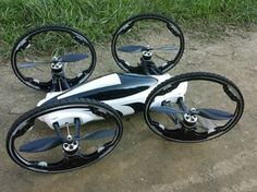 Drone that drives as well as flies.