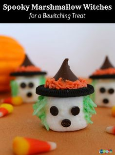 Spooky Marshmallow Witches for a Bewitching Treat!