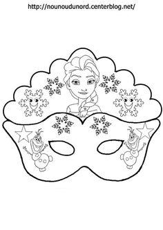 Elsa and Olaf: Free Printable Mask Template Elsa Frozen, Elsa Olaf, Preschool Crafts, Crafts For Kids, Karneval Diy, Olaf Party, Carnival Crafts, Printable Masks, Free Printable