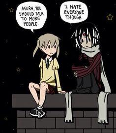 Maka gives advice to Asura :)