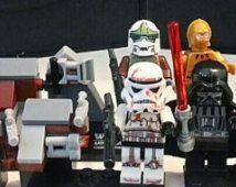 $20 - Custom Star Wars Minifigures Set of 8 Lego Size Darth vader, C3P0, Stormtrooper, Jedi, Sith, Darth Maul, Chewbacca