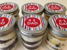 Cupcakes In A Jar-Mason Jars-#1 Dad-Gifts for Dad-I Love Dad-Happy Father's Day- Father's Day Gifts!