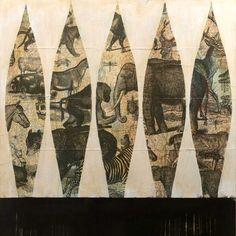 """Animal Atlast 1"" by Judy Paul   Prints available at http://www.judypaul.com/studio/work/view/animalatlast1"