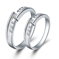 Couple Rings Diamond Engagement Rings by UloveFashionJewelry, $10.90