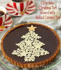 Chocolate Christmas Tart Infused with Salted Caramel Tea