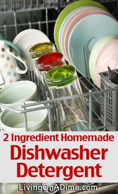 Homemade Dishwasher Detergent Recipe - Just  2 Ingredients!