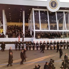 President @BarackObama walking in front of the parade stand.
