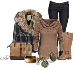 A casual outfit fit for an outing with friends. Cute Winter Outfits, Fall Outfits, Casual Outfits, Cute Outfits, Fashion Outfits, Fashion Trends, Fashionista Trends, Country Outfits, Casual Wear