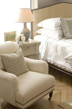 love the headboard | table | chair