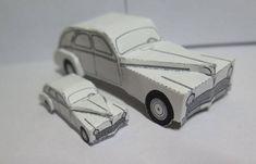 Simple Peugeot 203 Paper Car Free Vehicle Paper Model Download