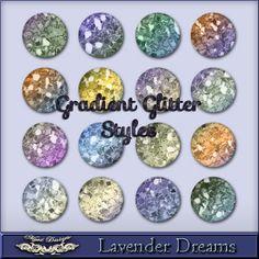 MystD - Lavender Dreams - Gradient Glitter Styles [MystD-LavenderDreams-GrdGltStl] - $3.45 : Digital Scrapbooking Store | Digi Style Designs...