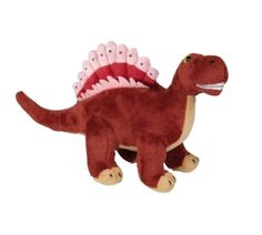 Colourful Cuddly Dinosaur Spinosaurus -   Fun and colourful cuddly dinosaur Spinosaurus with a cheeky smile which is suitable from birth but great for younger toddlers to have gentle role play games.