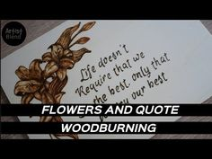 How to woodburn flowers / pyrography art / artistblend Wood Burning Art, Woodburning, Cursive, Pyrography, Letters, Youtube, Quotes, Flowers, Blog