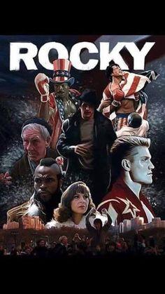 Rocky Rocky Balboa, Rocky Stallone, Rocky Sylvester Stallone, Action Movie Poster, Movie Poster Art, Rocky Legends, Rocky Film, Silvester Stallone, Carl Weathers