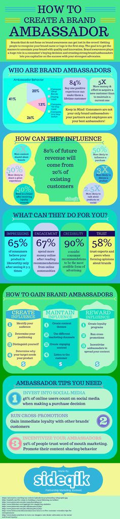 Tips for creating brand ambassadors: This infographic will show you how to excite bloggers and consumers with large social media followings.