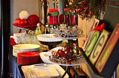 How to set up for a Holiday Buffet in Small Spaces, via Reluctant Entertainer Christmas Open House, Christmas Brunch, All Things Christmas, Holiday Fun, Christmas Holidays, Christmas Ideas, Christmas Decor, Xmas, Christmas Entertaining