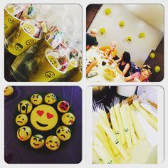 """My cousin is brilliant: """"Emojis Party"""" for my 10 year old's birthday. I loved doing this theme!"""
