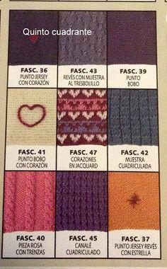 Paloma y punto: Manta de punto tipo patchwork
