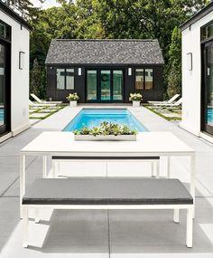 Expert Design Advice: Outdoor Dining Spaces - Photo 1 of 7 - Pratt outdoor table, Pratt outdoor benches