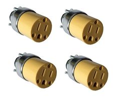 4 Pc Female Extension Cord Replacement Electrical Plugs 15amp 125v 3 Prong With Images Extension Cord Plugs Electricity