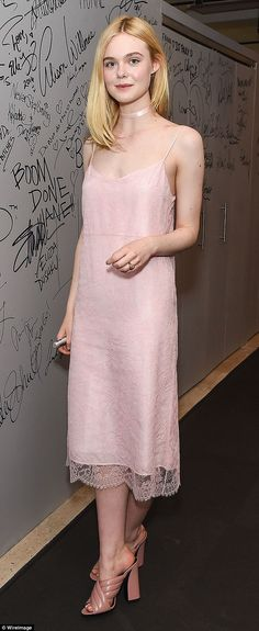 What a beauty:Elle Fanning looked flawless as she attended the AOL Build Speaker Series to talk about her upcoming thriller, The Neon Demon, on Wednesday in New York City