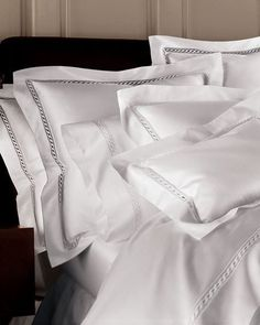 Shop King Lace Sateen Duvet Cover from SFERRA at Horchow, where you'll find new lower shipping on hundreds of home furnishings and gifts. Linen Bedding, Bed Linens, Cotton Bedding, Comforter Sets, Damask Bedding, King Comforter, White Bedding, Zara Home, Bed Sets