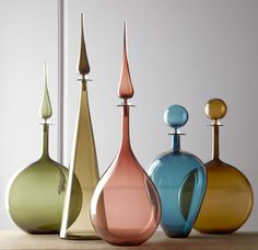 Loving these stunning decanters by Joe Cariati - available at #HorchowHome