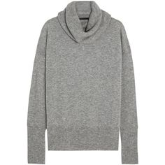 The Row Cecilia cashmere and silk-blend turtleneck sweater (£1,030) ❤ liked on Polyvore featuring tops, sweaters, shirts, grey, grey shirt, cashmere turtleneck sweaters, gray sweater, cashmere sweaters and grey turtleneck