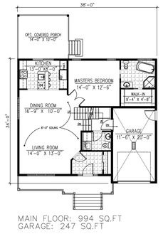 First Floor Plan of House Plan 50303